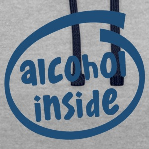 alcohol inside (1841C) - Contrast Colour Hoodie