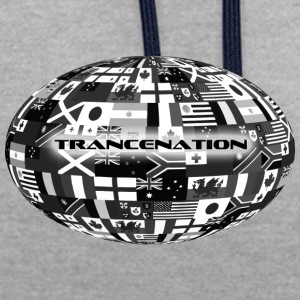 trance nation - Sweat-shirt contraste