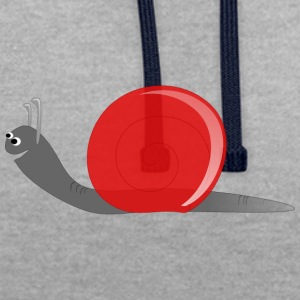escargot rouge - Sweat-shirt contraste