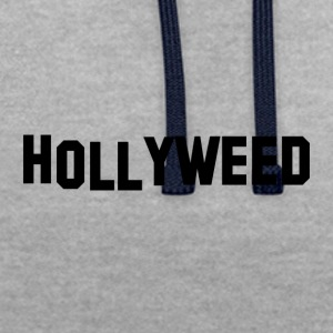 Hollyweed Svart - Kontrastluvtröja