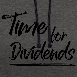 Temps pour dividendes - Sweat-shirt contraste