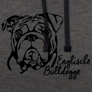 ANGLAIS BULLDOG PORTRAIT - Sweat-shirt contraste