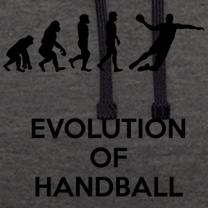 Evolution of handball - Contrast Colour Hoodie