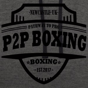 P2P Boxing Black Logo - Contrast Colour Hoodie