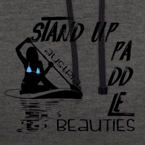 Stand up Paddle Beauties 2 Austria black - Kontrast-Hoodie