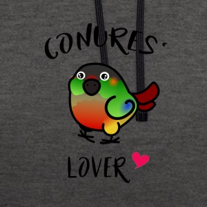 Conures' Lover: opaline - Contrast Colour Hoodie