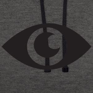 the eye that does not see - Contrast Colour Hoodie