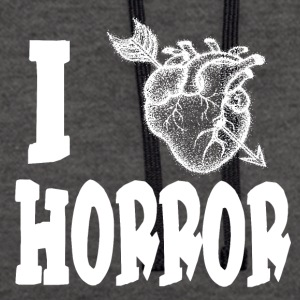 HEARTPFEIL LOVE HORROR - Contrast Colour Hoodie