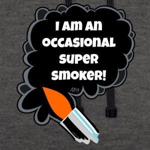 I am an occasional super smoker - Contrast Colour Hoodie