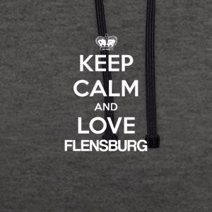 Keep Calm and Love FLENSBURG - Kontrast-Hoodie