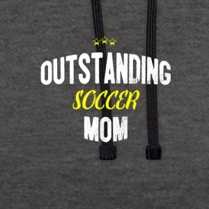 Distressed - OUTSTANDING SOCCER MOM - Contrast Colour Hoodie