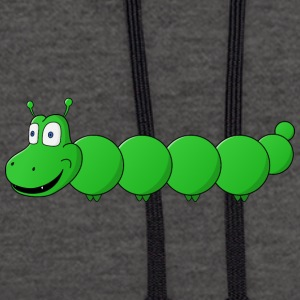 small sweet caterpillar - Contrast Colour Hoodie