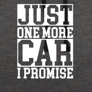 just one more car - Kontrast-Hoodie