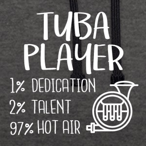 Tuba player - Contrast Colour Hoodie