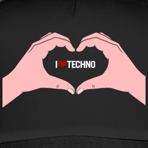 I Love Techno 2 manos - Trucker Cap