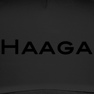 Haaga black text and capital letters - Trucker Cap