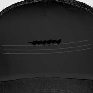 Birds / flock of birds on power line sitting - Trucker Cap