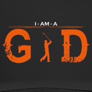 I AM GOD legend golf sports golfer caddi - Trucker Cap