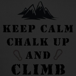 Rock Climbing Keep Calm Chalk Up And Climb - Trucker Cap