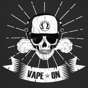 Vaping skull head vape on - steamer steamer motif - Trucker Cap