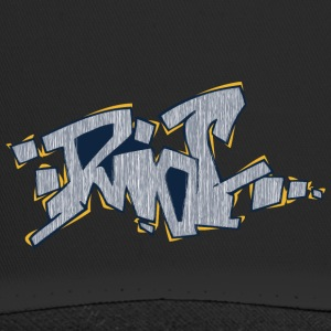 riot graffiti yellow gray - Trucker Cap