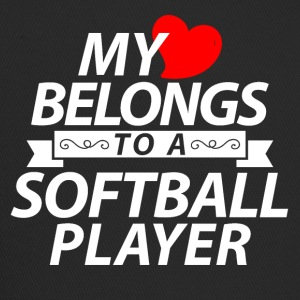 My heart belongs to a softball player - Trucker Cap