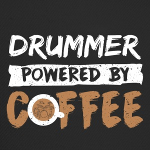 Drummer supported by coffee funny saying - Trucker Cap
