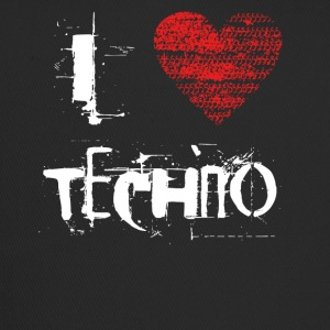 I Love Techno Goa favorables Hardtek duro - Trucker Cap