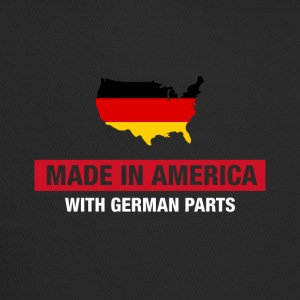 Made In America With German Parts Germany Flag - Trucker Cap