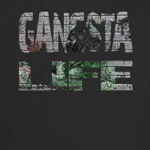 Gangster T-shirt Gangsta Life Rapper Hiphop T-shirt - Trucker Cap