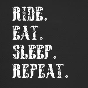 Ride eat sleep repeat Reitersprüche - Trucker Cap