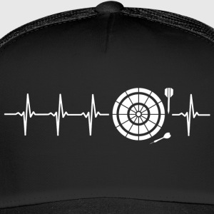 I love Darts (darts heartbeat) - Trucker Cap