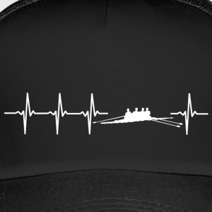 I love rowing (rower heartbeat) - Trucker Cap