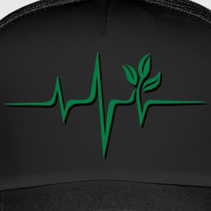 Vegan pulse, plant, frequency, heartbeat, beat, V - Trucker Cap