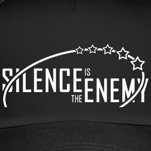 silence.is.the.enemy (blanco) - Trucker Cap