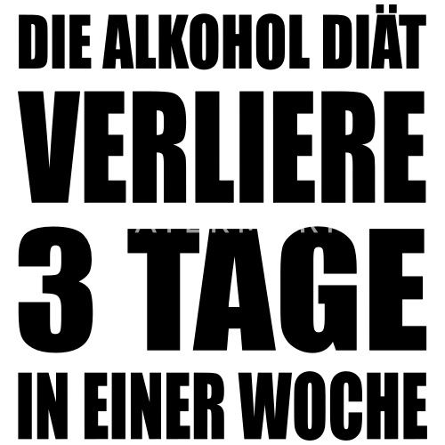 Alkohol Diat Humor Spruch Trucker Cap Spreadshirt