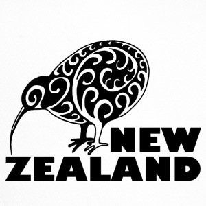 New Zealand Kiwi me lettering Zealand, black - Trucker Cap