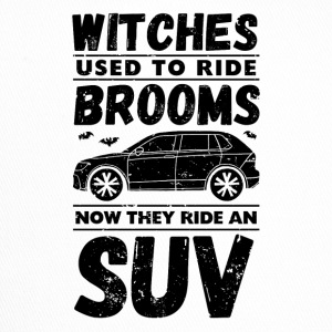Halloween. Witches. Automobile. SUV. Drive. Witches' broom. - Trucker Cap