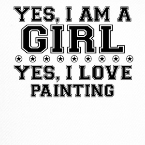 yes gift on a girl love bday gift PAINTING - Trucker Cap