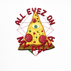 ALL EYEZ ON MY PIZZA Illuminati Italy Fun T-Shirt - Trucker Cap