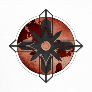 Map Compass - Red - Trucker Cap
