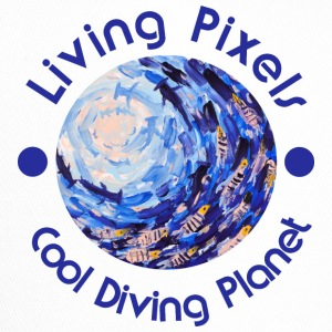 Living Pixels, Cool Diving Planet, Diving - Trucker Cap
