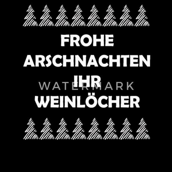 Frohe Arschnachten Ihr Weinl/öcher Lustiges Weihnachts Langarmshirt