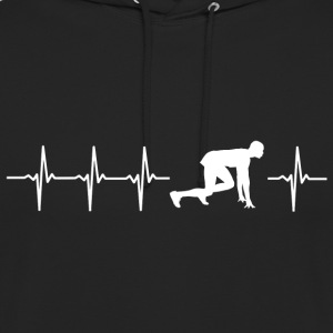 I love sprint (sprint pulsation) - Sweat-shirt à capuche unisexe