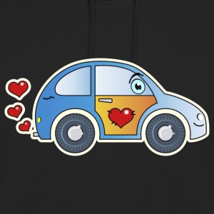 Kids car toy car heart colorful cheerful children - Unisex Hoodie