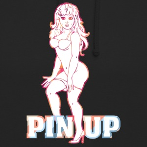 surpris fille nue pinup - Sweat-shirt à capuche unisexe