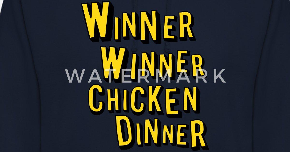 Winner Winner Chicken Dinner Wallpapers: Winner Winner Chicken Dinner Unisex Hoodie