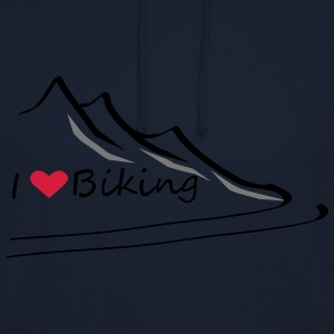 Ilovebiking1 - Sweat-shirt à capuche unisexe