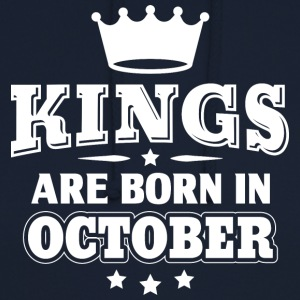 Kings are born in October - Birthday - Unisex Hoodie