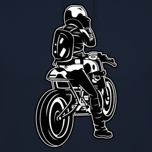 Cafe Racer motorcycle 02_black white - Unisex Hoodie